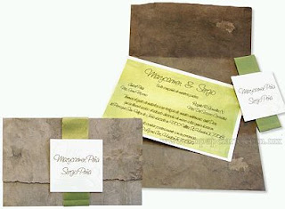 Invitation cards for Ecological Weddings