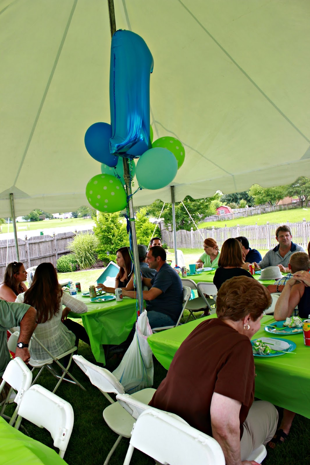 Lime and aqua party