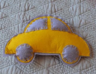 coche de fieltro para móvil cuna