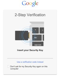 Token di sicurezza - verifica in due passaggi con Google Chrome