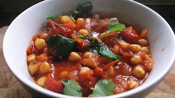 Thai Style Chickpea And Spinach Curry With Coriander.