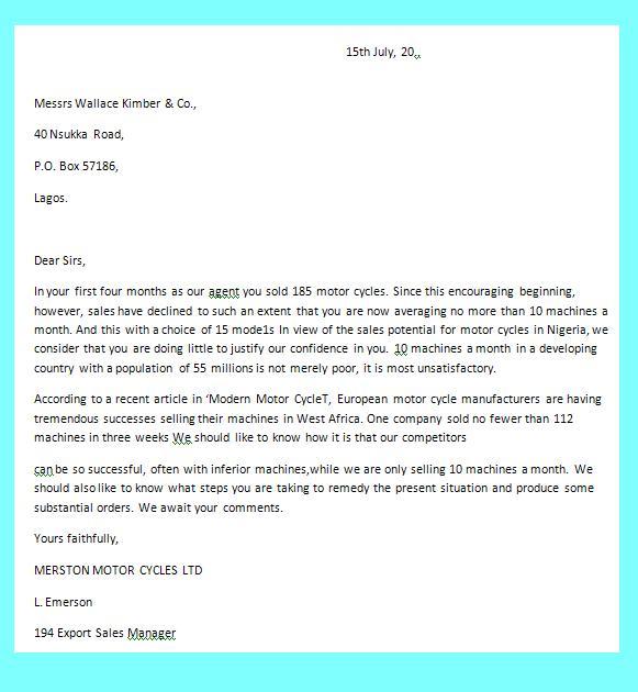 Photo : Complaint Format Letter Images