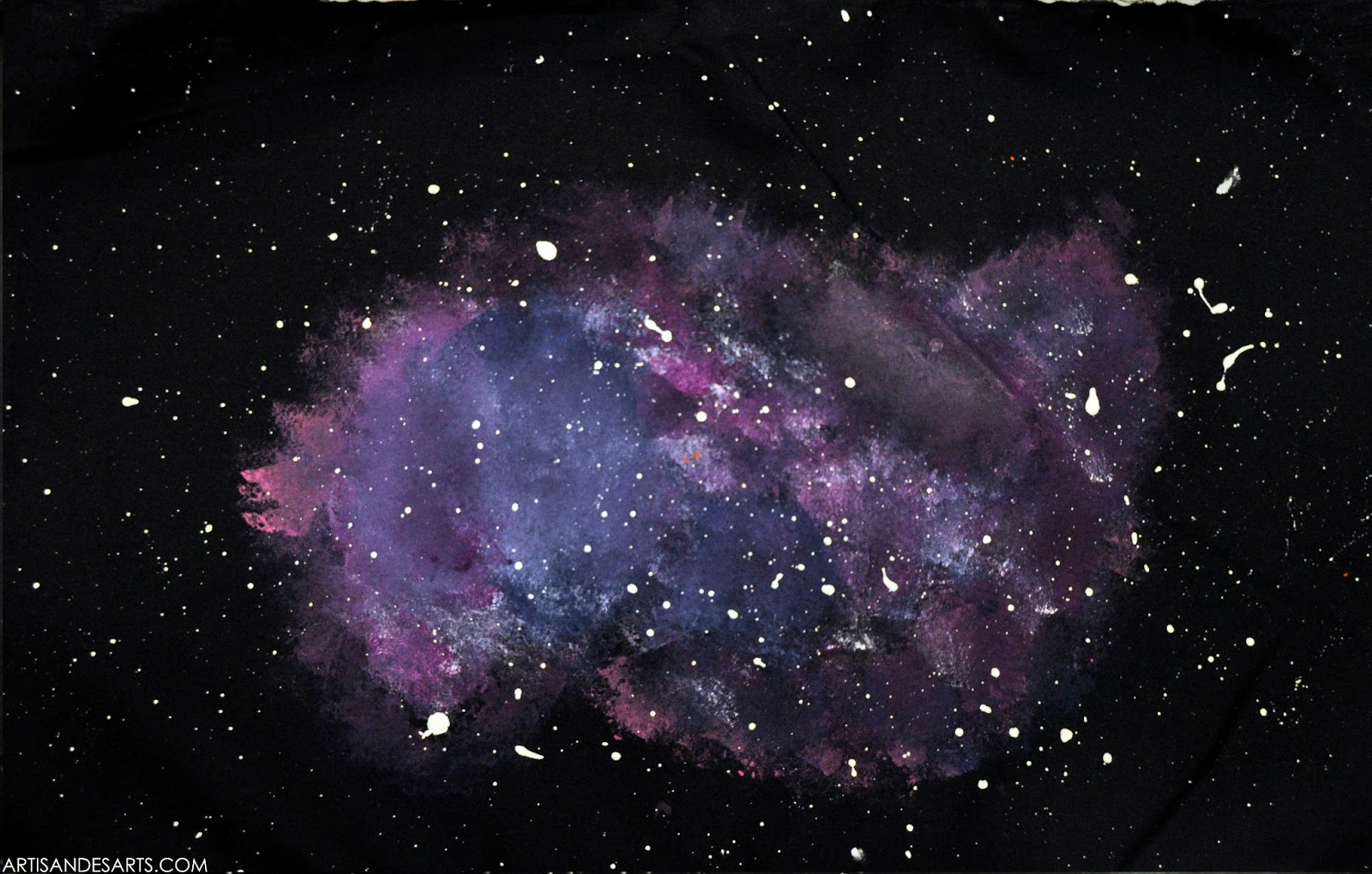 Purple Orange Space Galaxy Painting - Pics about space