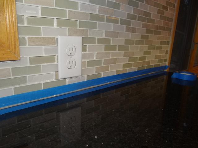 One Project At A Time   DIY Blog: How To Caulk Kitchen Backsplash U0026 Counter  Tops