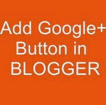 How to add Simple Google+ button in Blogger?