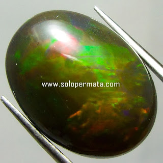 Batu Permata Black Opal kalimaya - Kode 30L02