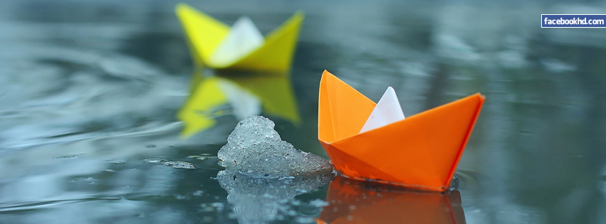 Paper Boats 3D Facebook Cover Image