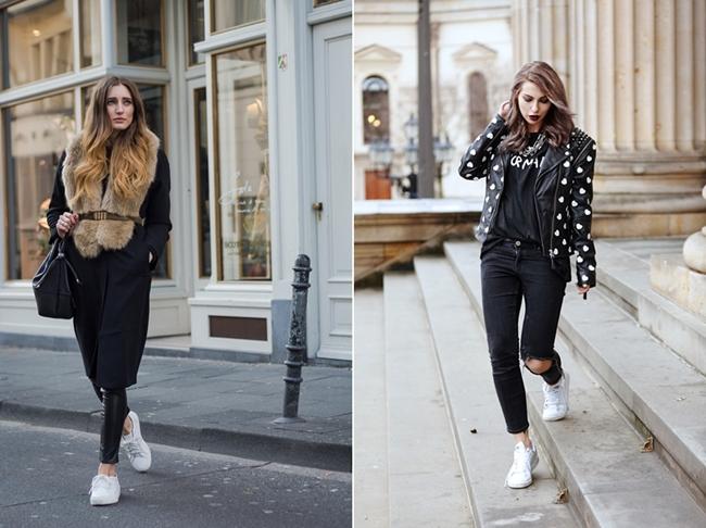 The L Fashion Pelzschal White Sneaker Masha Sedgwick