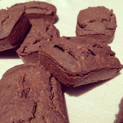 Financiers chocolat café haricots noirs