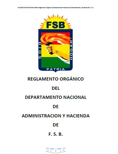 Reglamento del Orgánico del Departamento Nacional de Administración y Hacienda