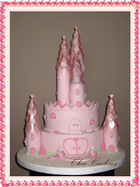 tarta fondant castillo princesa