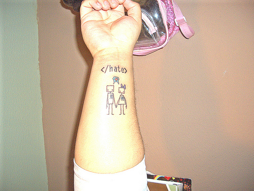 3149614902 160629c181 >#tattoofriday   Robot