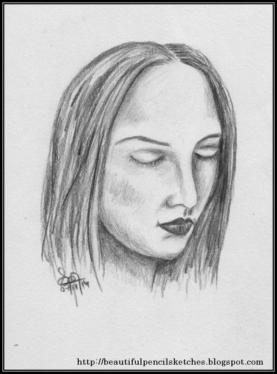 Easy Sketches Of Faces Beautiful Pencil Sketc...