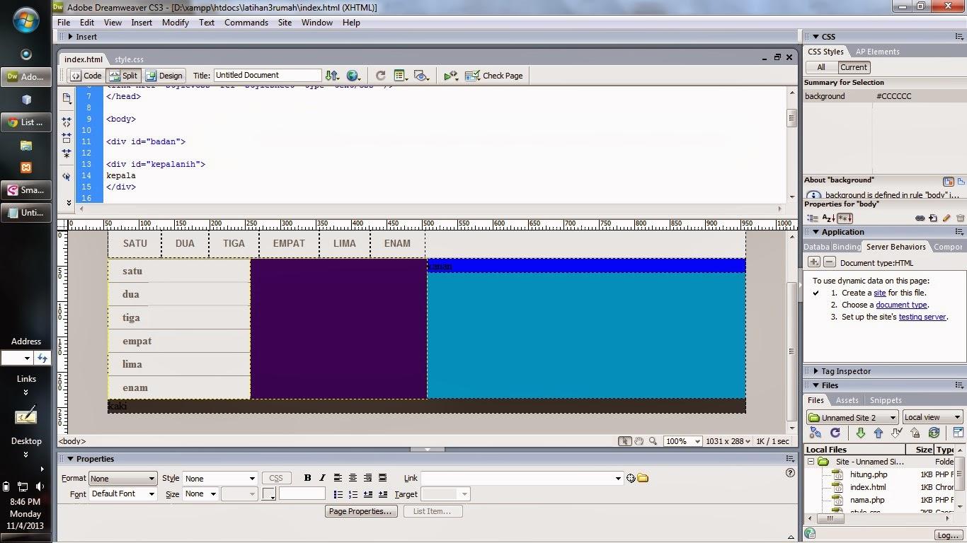 Campus koleksi tau ngga sih cara belajar membuat layout div class dan css yang mudah di - Html div class ...