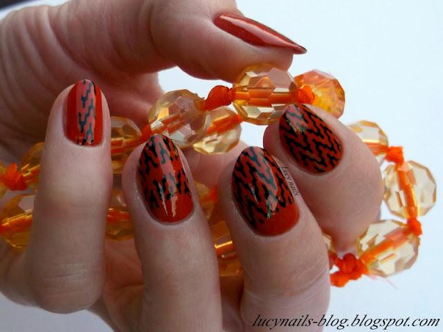 Geometryczne wzorki na paznokcie