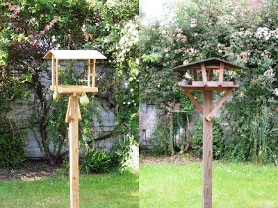 Two versions of the bird table