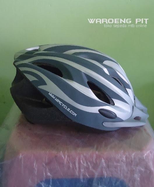 Jual Helmet Wim Cycle silver sepeda balap murah 1