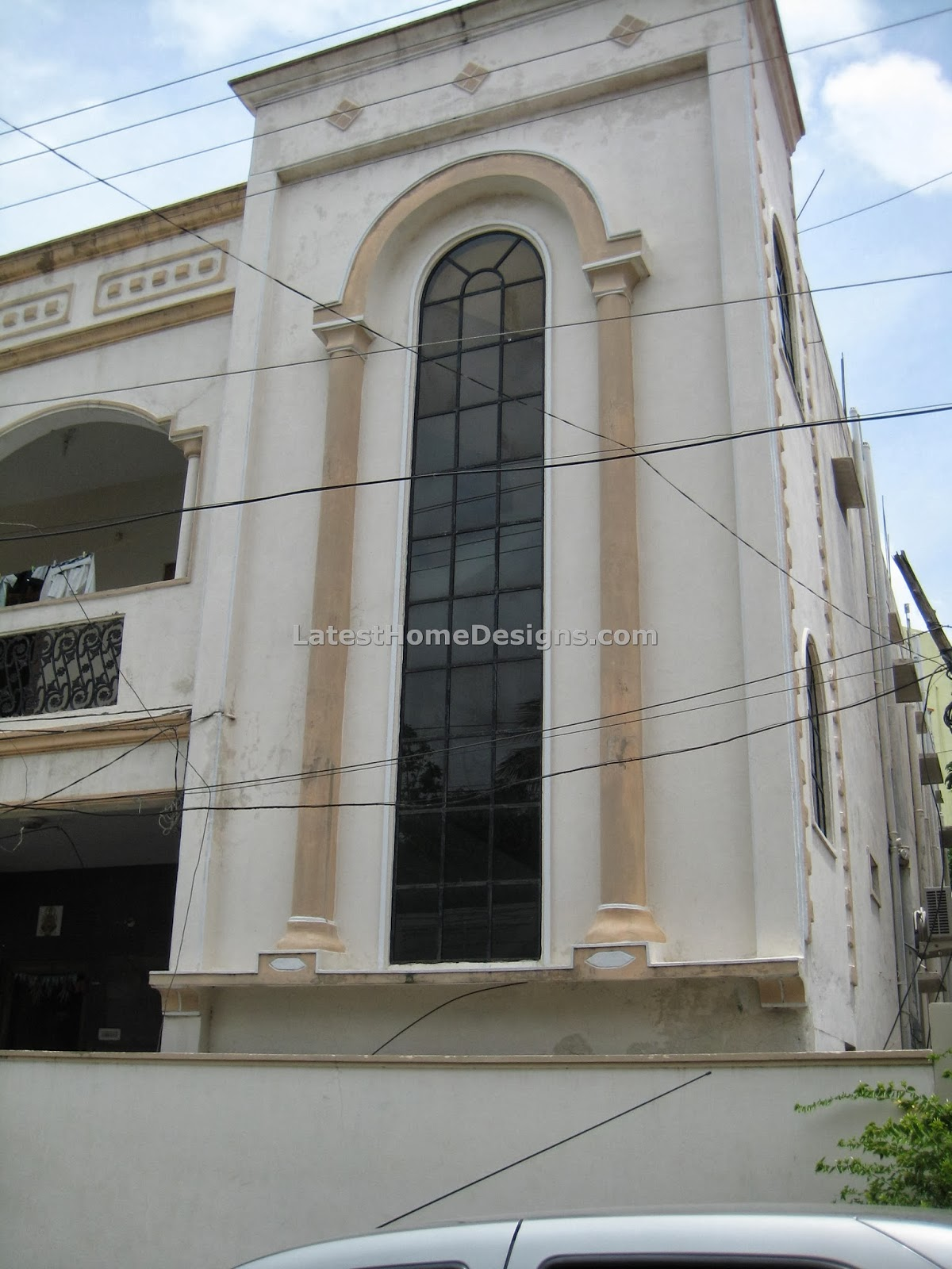 Two Floor Elevation : Indian style home elevation with plan in hyd joy studio