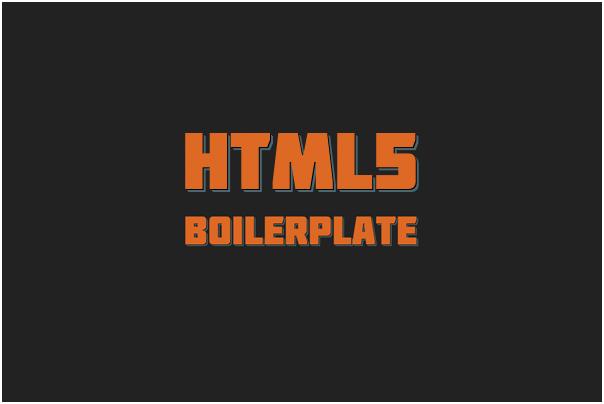 HTML5 UI Framework : Boilerplate