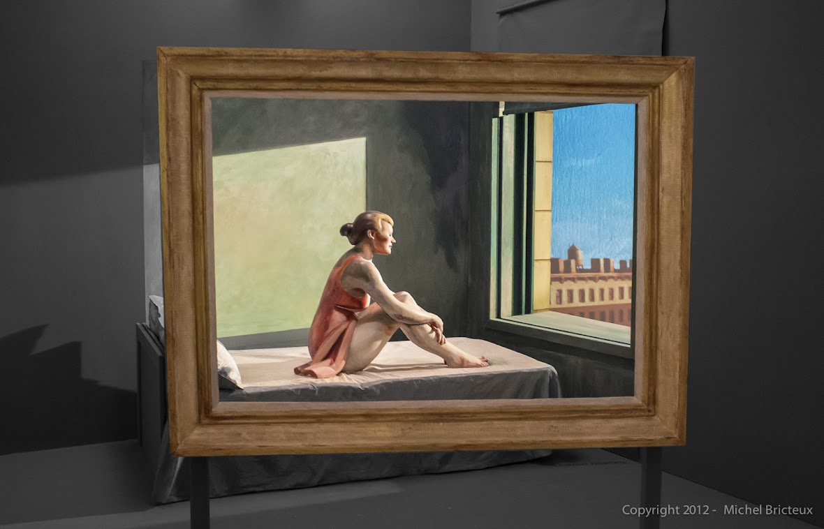 Edward Hopper's Morning Sun - revisited by American Cinematographer Ed Lachman - Installation Museo