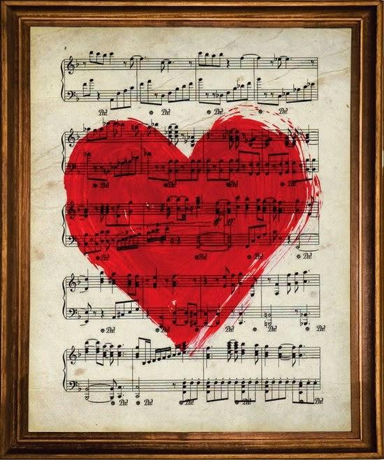 Lámina nacnic corazón y partitura