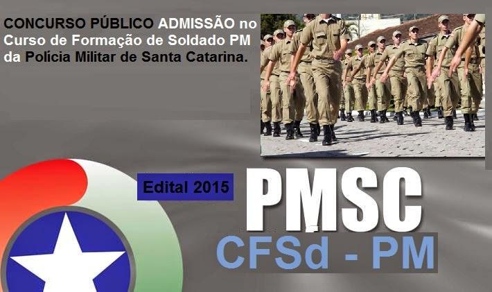Apostila Concurso Polícia Militar SC 2015 Soldado PMSC (CFSd).