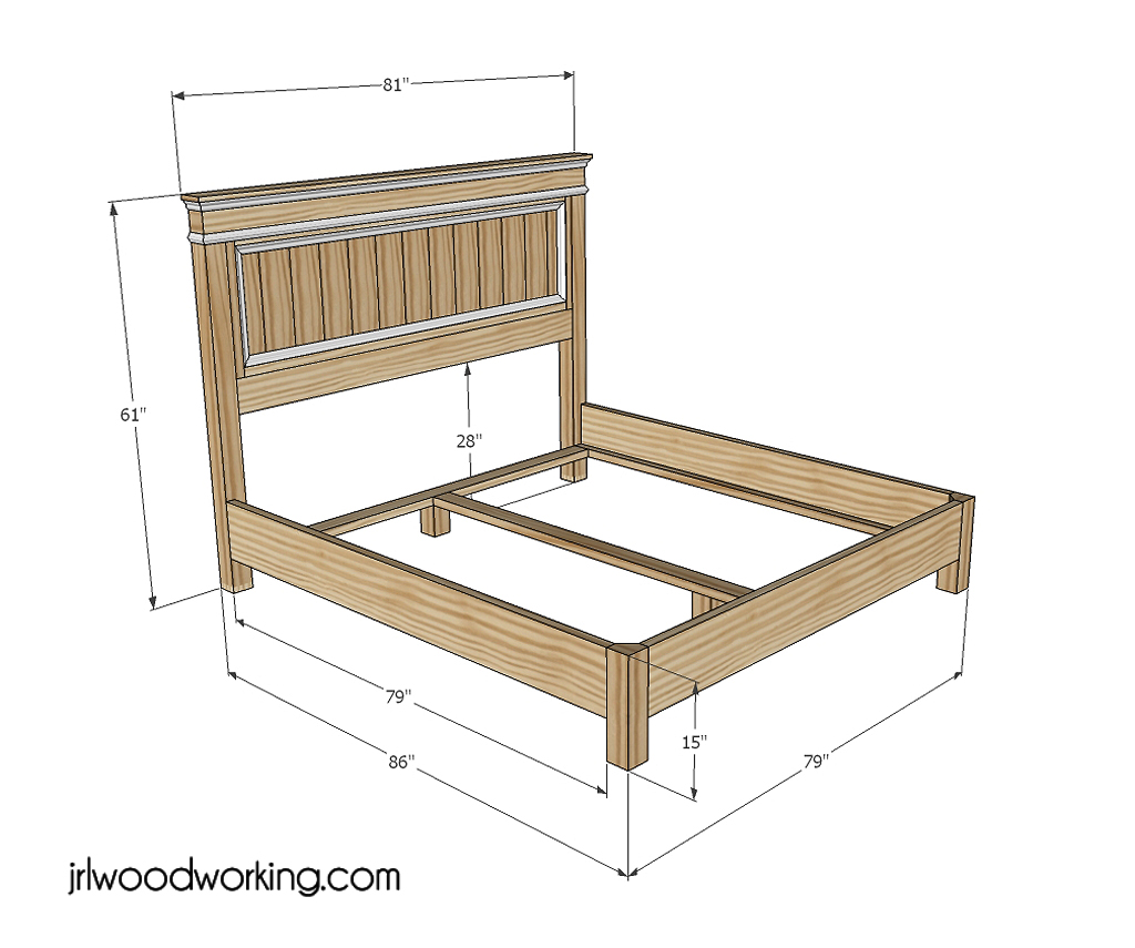 King Size Bed Headboard Plans further Bed Frame With Storage Drawers ...