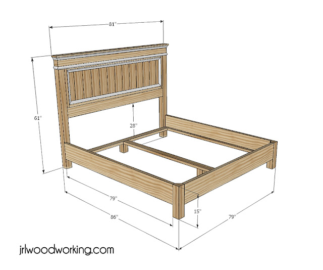 Pdf Diy King Size Bed Frame With Headboard Plans Download
