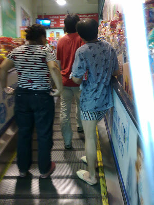 supermarket, china, man in boxers