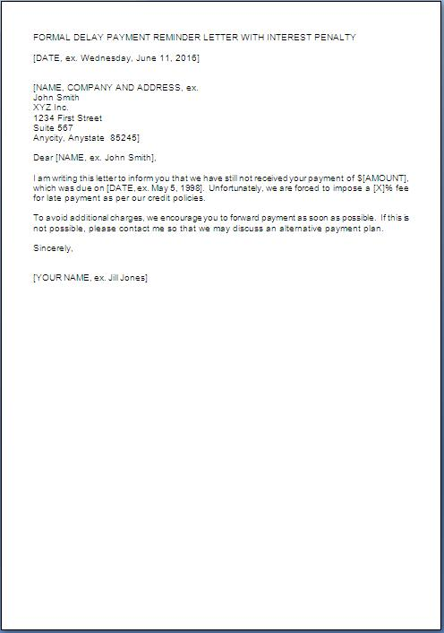 interest on late payment letter