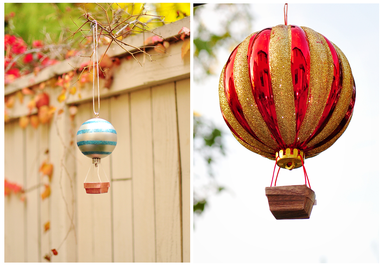 The cheese thief how to make hot air balloon ornament for Air balloon decoration