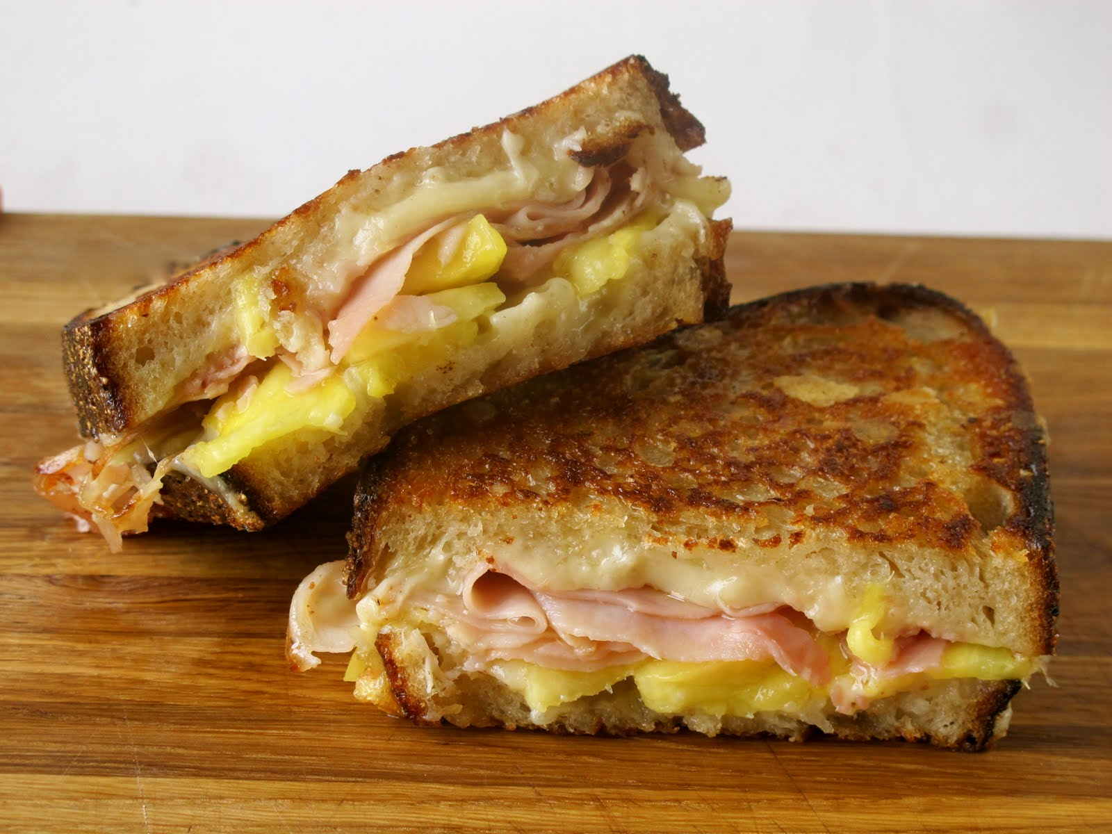 Grilled Ham And Cheese Sandwich Recipe The grilled ham and cheese