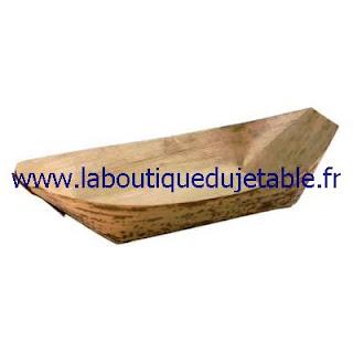 Barquette bateau en feuille de bambou