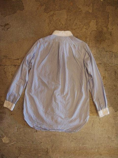 Engineered Garments & FWK by Engineered Garments Round Collar Shirt in Lt.Blue Oxford Fall/Winter 2014 SUNRISE MARKET