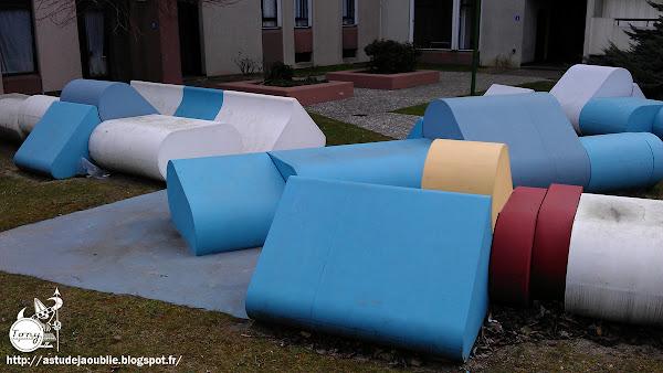 Ivry-sur-Seine - Aire de Jeux - Mobilier - Sculpture  Sculpteur: Gérard Chireix  Création 1975