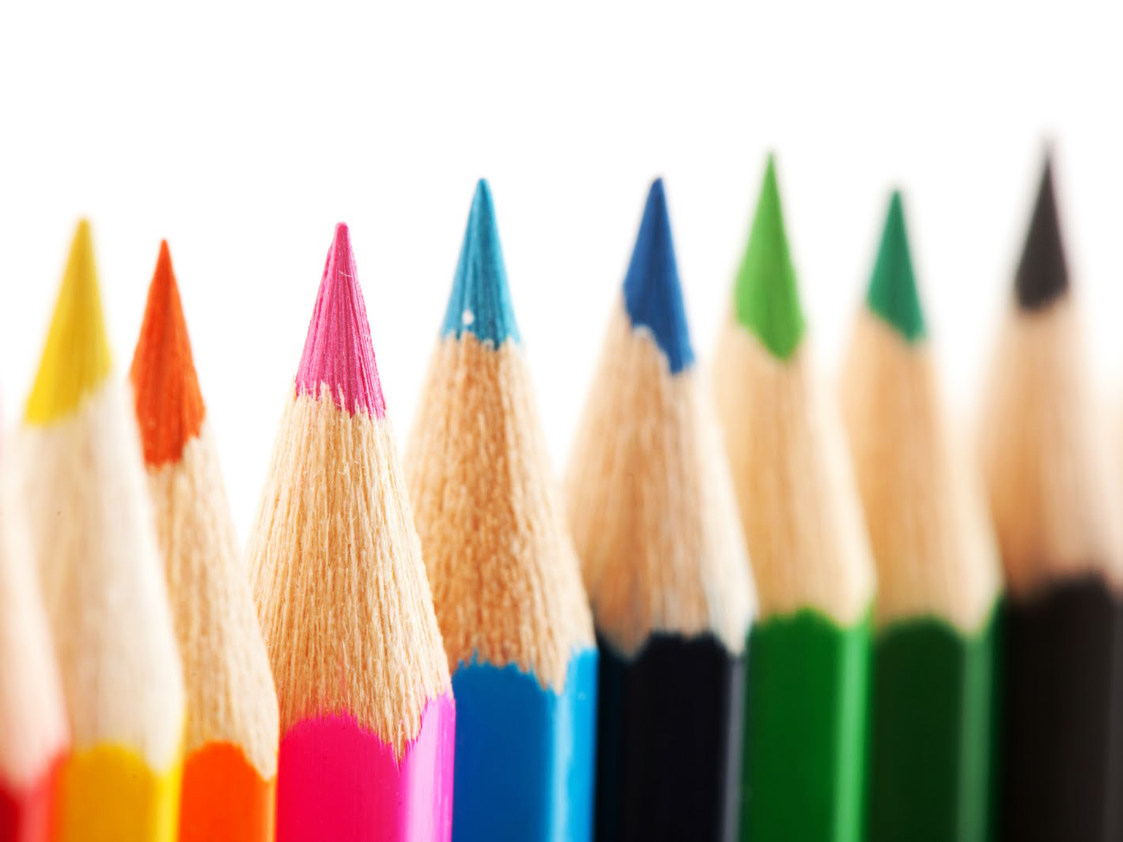 Colored Pencils PPT Templates - PPT Backgrounds Templates