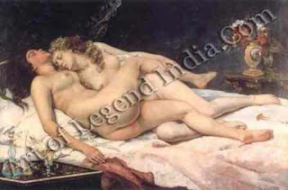 "The Great Artist Gustave Courbet Painting ""The Sleepers"" 1866 53"" x 78 ¾"" Petit Palais, Paris"
