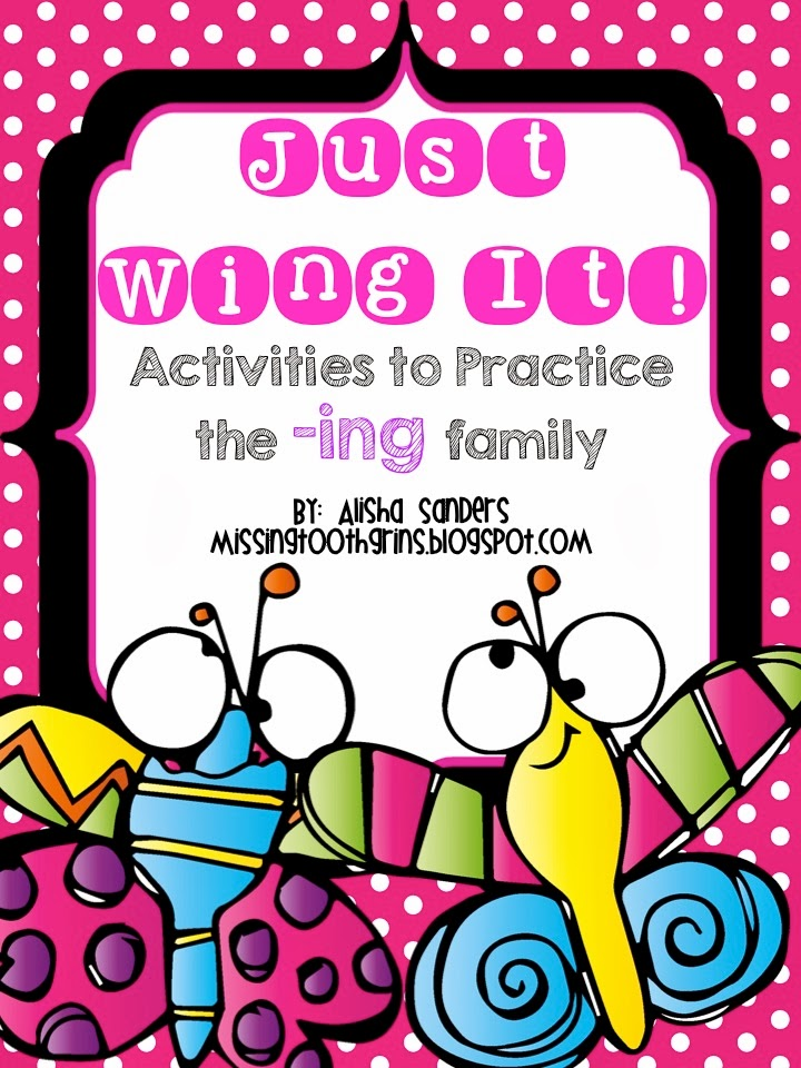 http://www.teacherspayteachers.com/Product/Just-Wing-It-Activies-to-Practice-the-ing-Word-Family-1100077