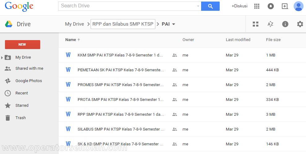 Google Drive - RPP SILABUS KTSP PAI SMP KELAS 7,8,9 SEMESTER 1 DAN 2