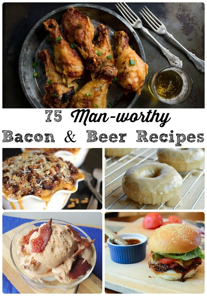 75 Man-worthy Bacon & Beer Recipes via thefrugalfoodiemama.com #reciperoundup