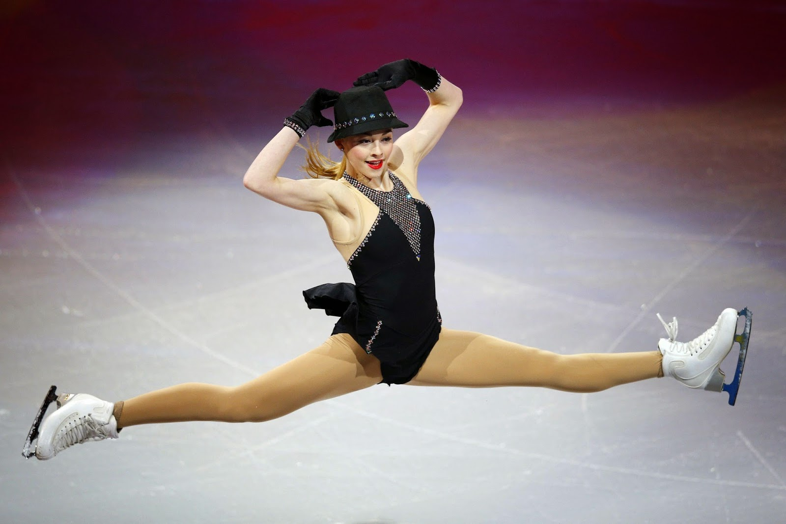 Olympian Gracie Gold finished third at her first competition of the season, falling in the short program and popping a jump in her free skate at Nebelhorn Trophy in Oberstdorf, Germany.
