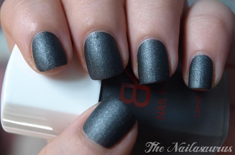 BK Matte Smoky Grey Black - The Nailasaurus | UK Nail Art Blog