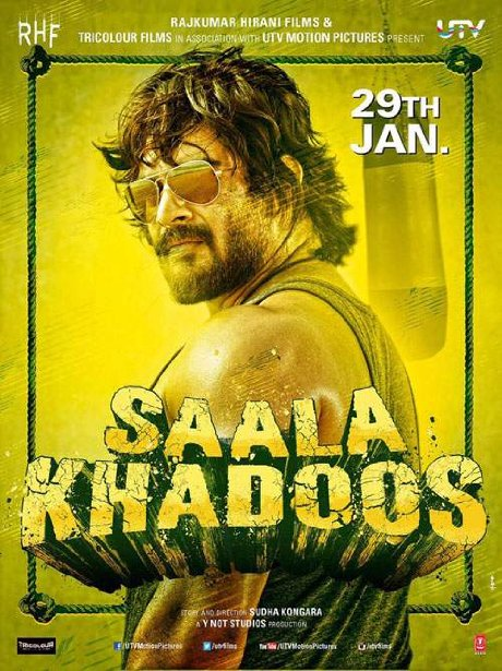 Poster Of Saala Khadoos 2016 Hindi 300MB CAMRip 480p x264 Free Download Watch Online