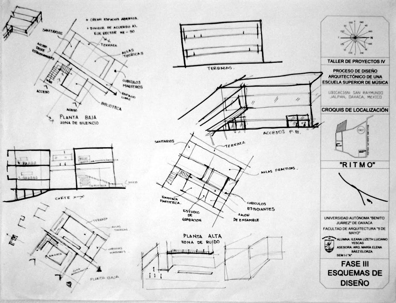 Fases De Dise O Esquemas Planta Arquitect Nica Alzados