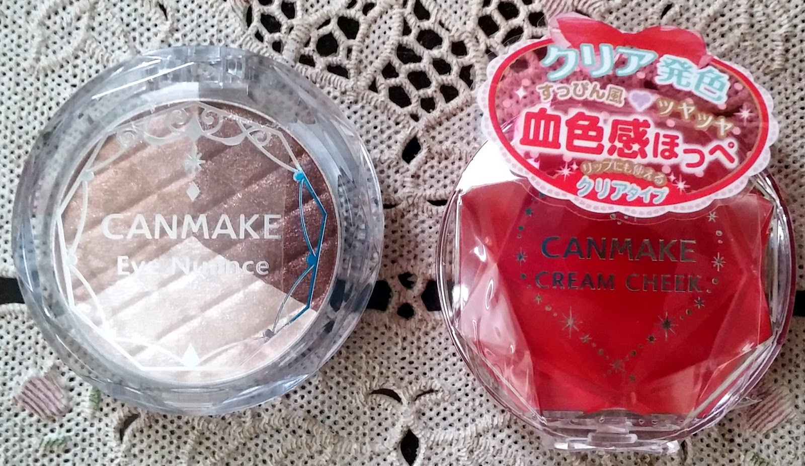 Wateryscenery Canmake Cream Cheek Cl01 Clear Red Heart Eye Nuance Jill Beauty Lip Matte 01 Cherry Hear Did You See The This One Have Bloody Color But On Brighter Shade