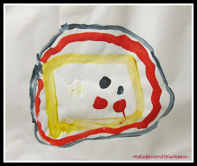 photo of: Fire Safety Paintings in Preschool (via RainbowsWithinReach)