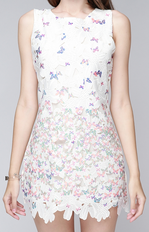 Butterfly on Applique Dress