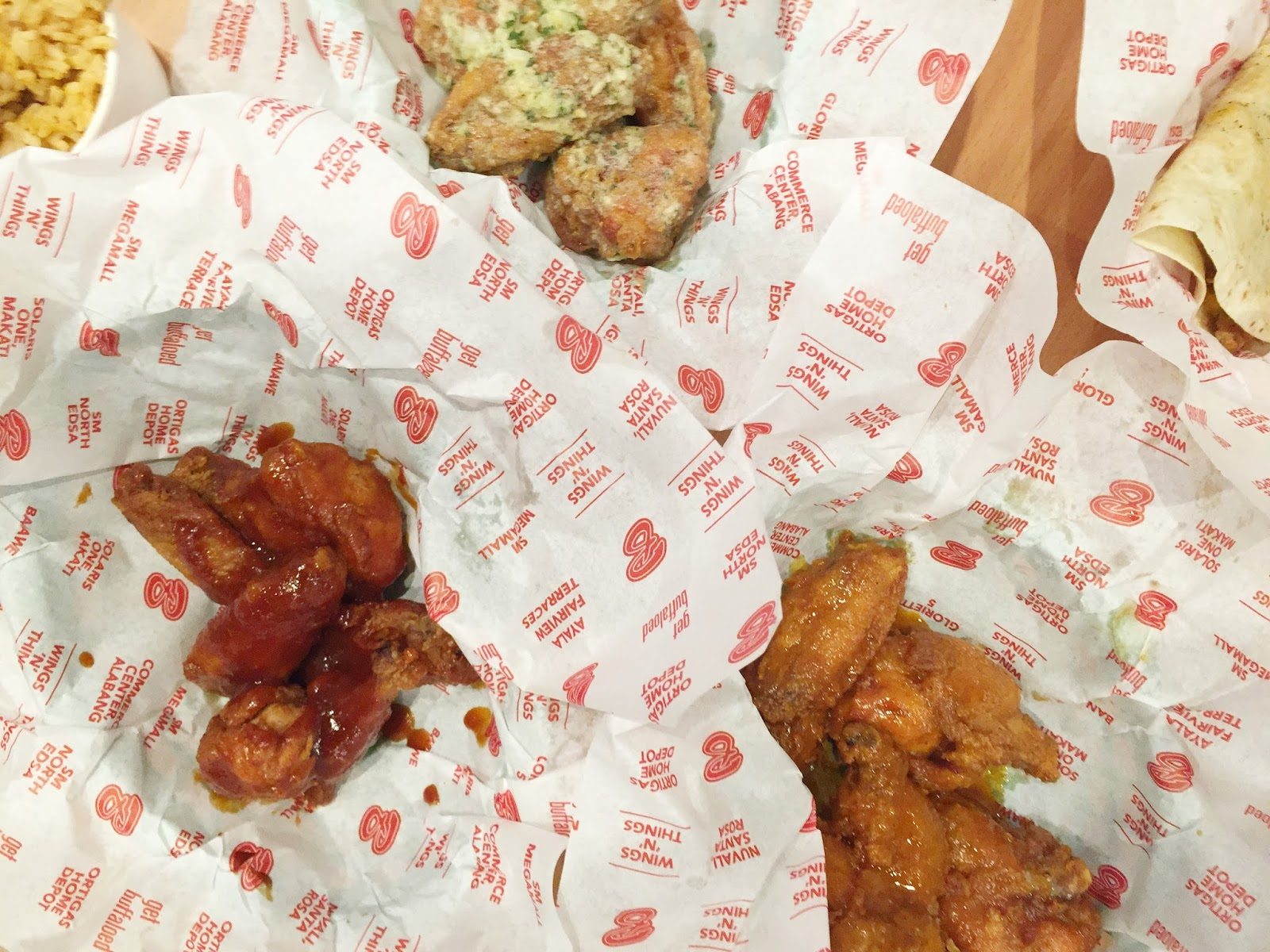 buffalo wings 'n' things triple sampler