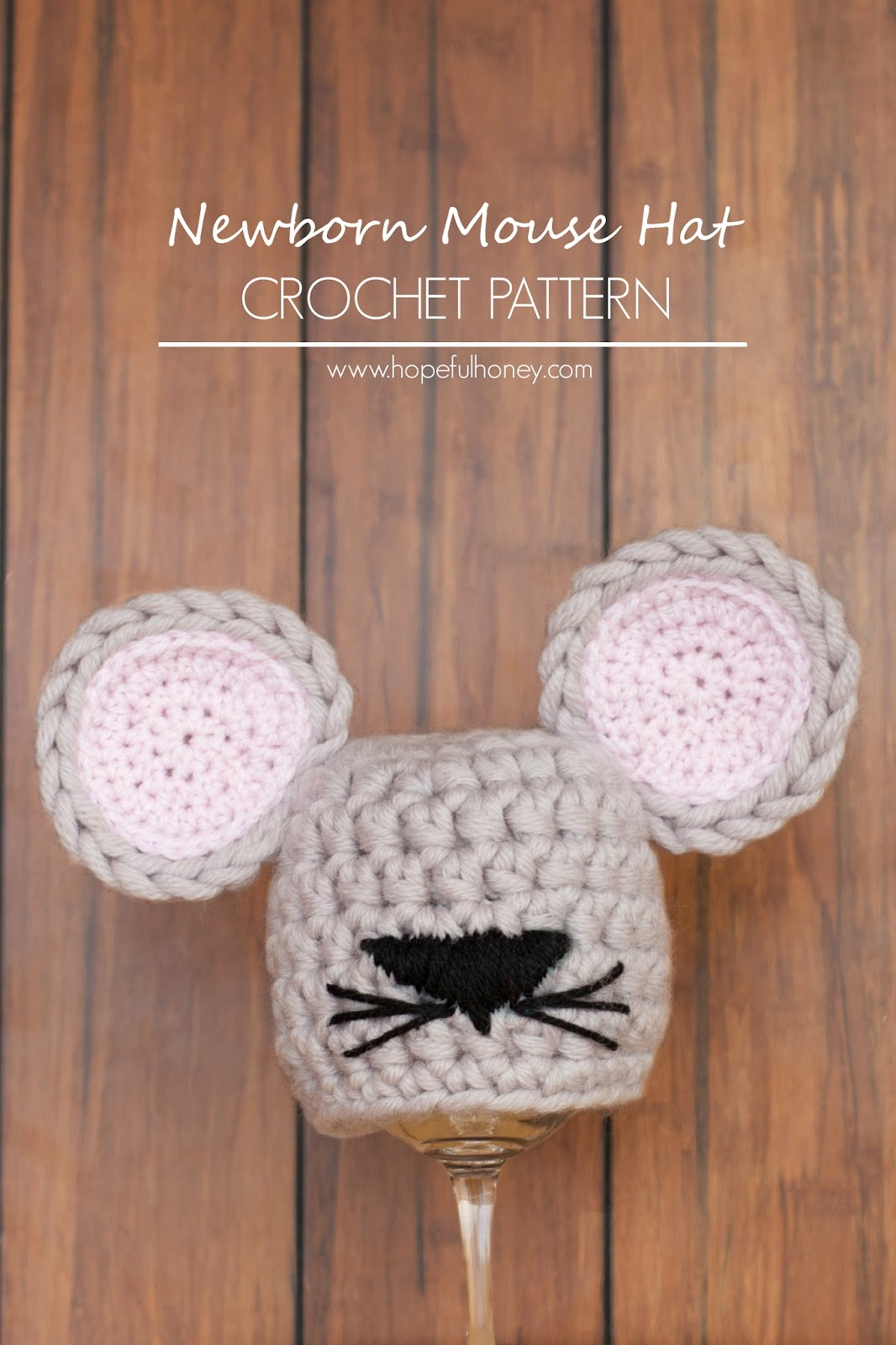 Crochet Pattern Mouse Hat ~ Traitoro for .