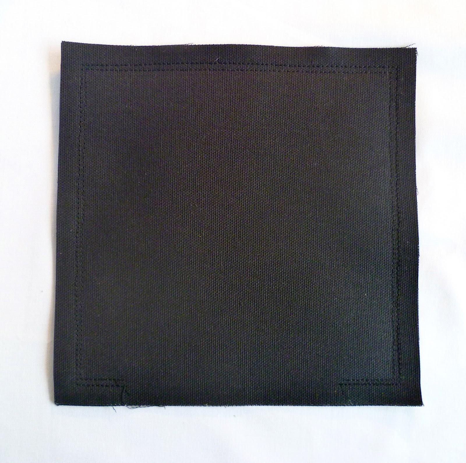 Bag after both seams are sewn